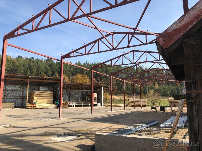 Ocelová konstrukce haly 12m x 18m x 4m